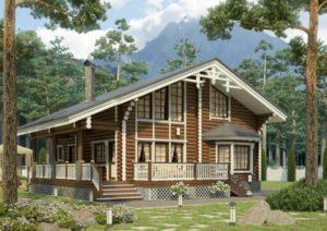 Деревянный-дом-Оригинальный-фото