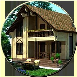 Дом деревянный Тихий