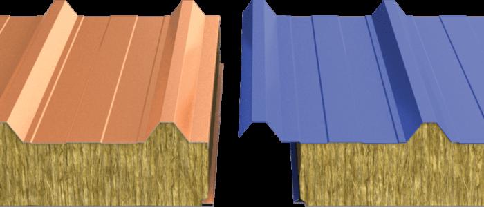 Кровельные сэндвич‑панели с минеральной ватой